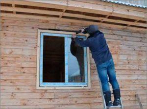 Монтаж окна ПВХ