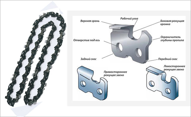 конструкция цепи электропилы