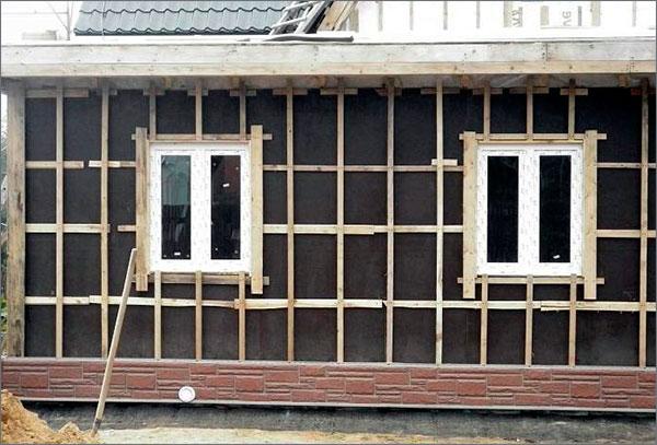 обрешетка стен деревянного дома
