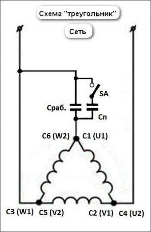 электрическая схема подключения циркулярки