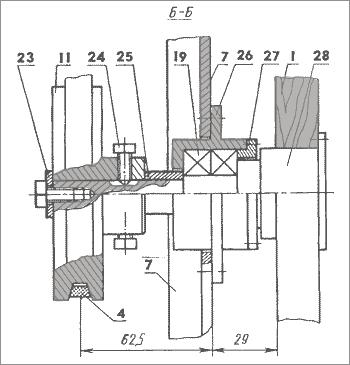узел крепления пилящей ленты ленточного станка