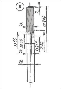 шкив привода ленты ленточного станка