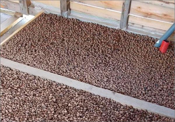 утепление деревянного пола керамзитом