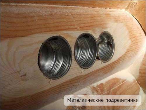 металлические подрезетники