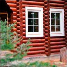 установка окна в деревянном доме