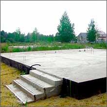 строим плитный фундамент