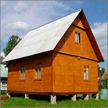 столбчатый фундамент каркасного дома