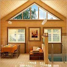 Покраска имитации бруса внутри помещения: особенности и нюансы