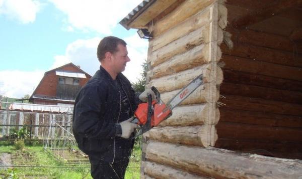 Как заложить окно в деревянном доме брусом